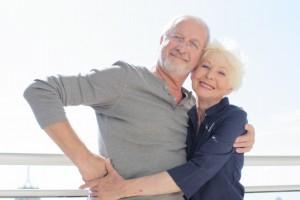 高齢夫婦で仲良く