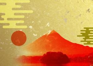 富士山色紙
