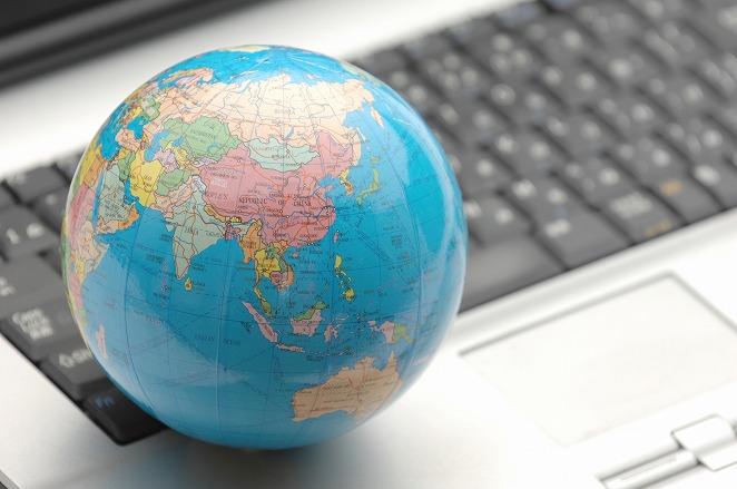地球とキーボード