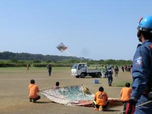 凧を揚げる