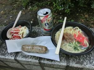 沖縄屋台の食事