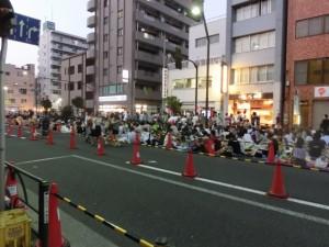 隅田川花火大会の見物客