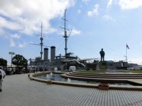 戦艦みかさのある三笠公園